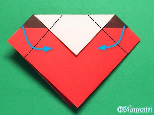 折り紙で立体的なてんとう虫の折り方手順16
