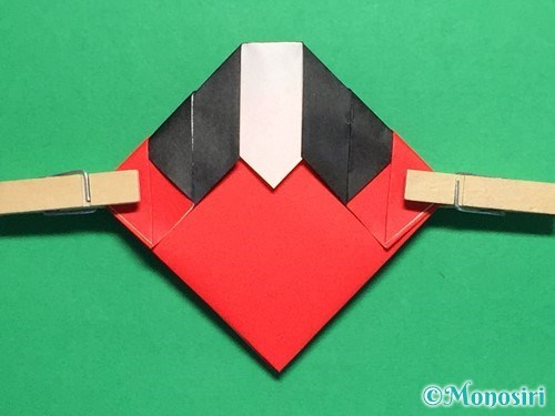 折り紙で立体的なてんとう虫の折り方手順17
