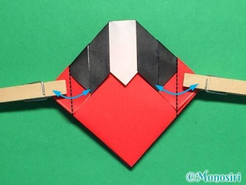 折り紙で立体的なてんとう虫の折り方手順18