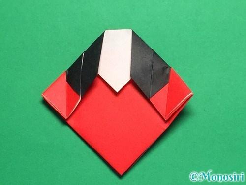 折り紙で立体的なてんとう虫の折り方手順19