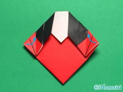 折り紙で立体的なてんとう虫の折り方手順20