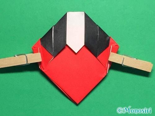 折り紙で立体的なてんとう虫の折り方手順21