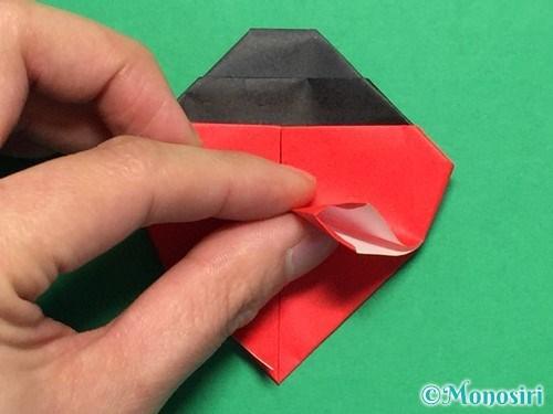 折り紙で立体的なてんとう虫の折り方手順28