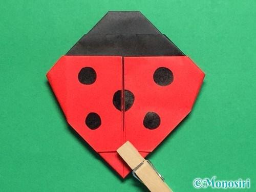 折り紙で立体的なてんとう虫の折り方手順32