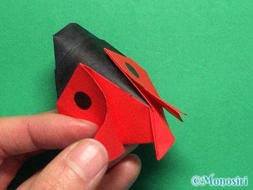 折り紙で立体的なてんとう虫の折り方手順36