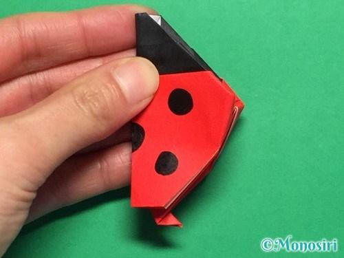 折り紙で立体的なてんとう虫の折り方手順39