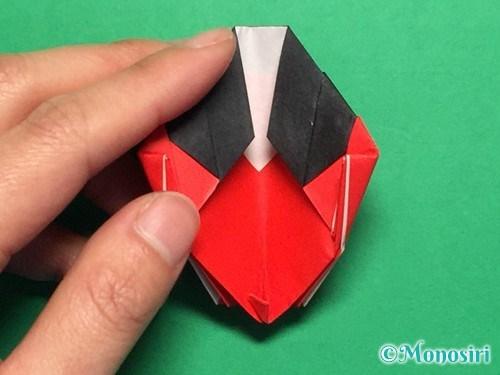 折り紙で立体的なてんとう虫の折り方手順41