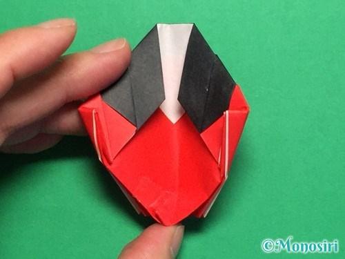 折り紙で立体的なてんとう虫の折り方手順42