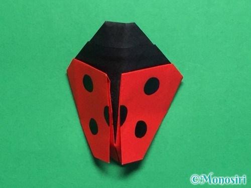 折り紙で立体的なてんとう虫の折り方手順43