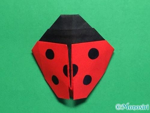 折り紙で立体的なてんとう虫の折り方手順44