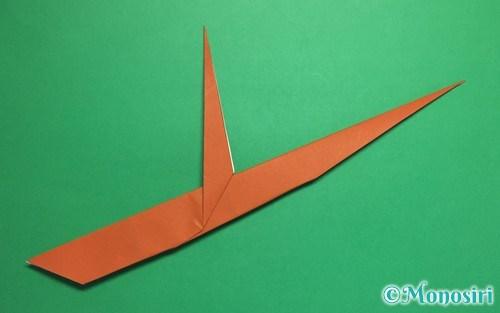 折り紙で折った木の枝