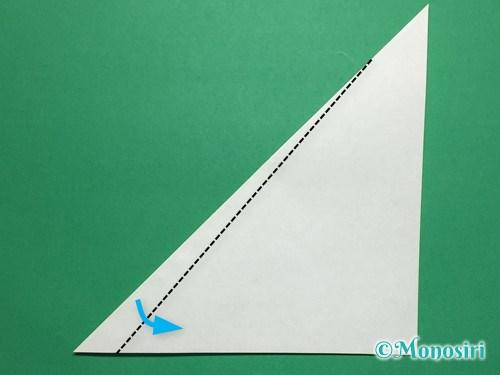 折り紙で葉っぱの折り方手順3