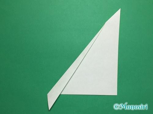 折り紙で葉っぱの折り方手順4