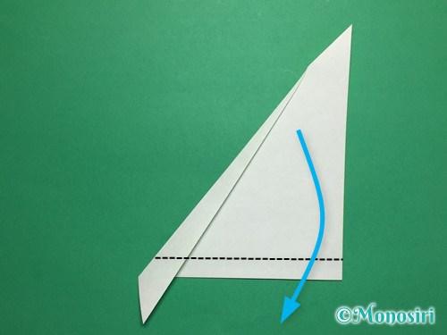 折り紙で葉っぱの折り方手順5