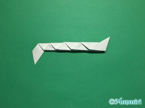 折り紙で葉っぱの折り方手順15