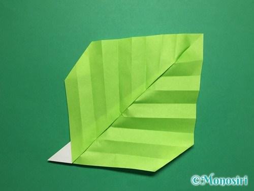 折り紙で葉っぱの折り方手順21