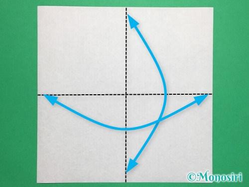 折り紙でぼんぼりの折り方手順1