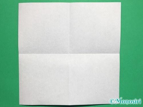 折り紙でぼんぼりの折り方手順2