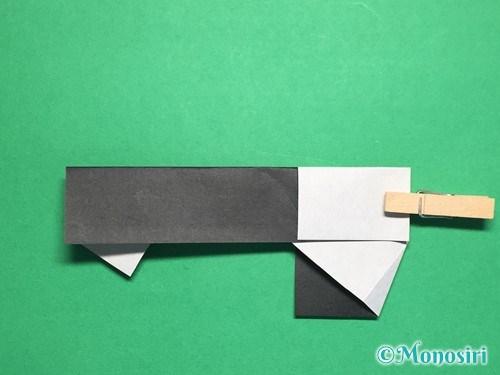 折り紙でぼんぼりの折り方手順18