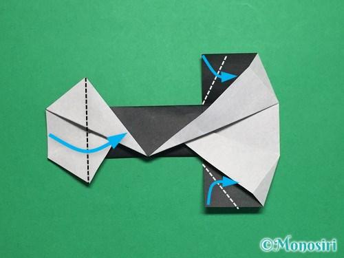 折り紙でぼんぼりの折り方手順21