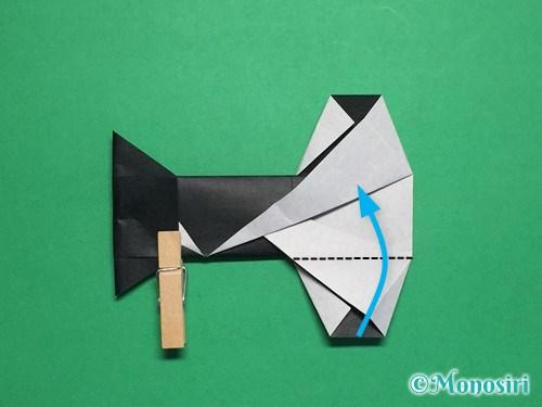 折り紙でぼんぼりの折り方手順23