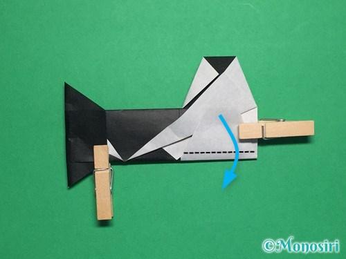 折り紙でぼんぼりの折り方手順25
