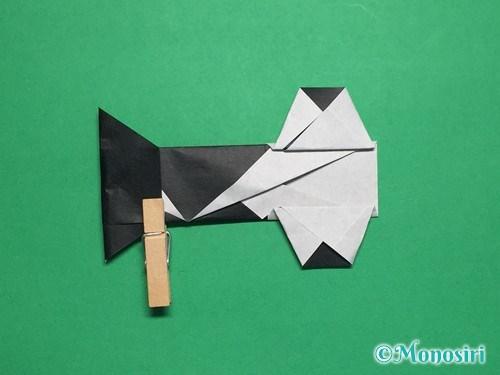 折り紙でぼんぼりの折り方手順27