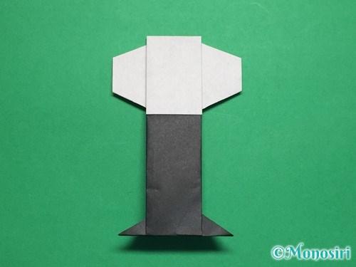 折り紙でぼんぼりの折り方手順28