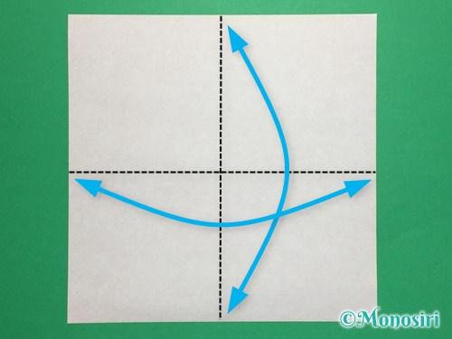 折り紙でお内裏様とお雛様の折り方手順1