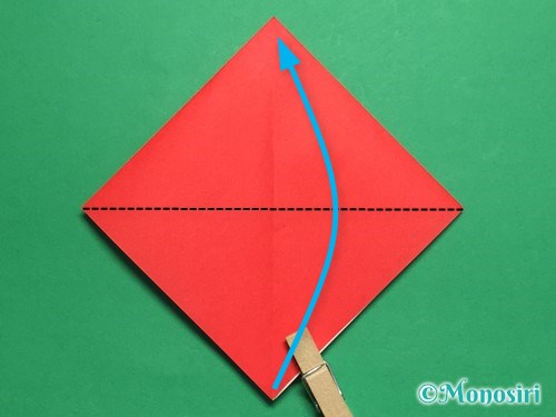 折り紙でお内裏様とお雛様の折り方手順10
