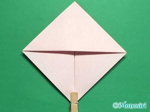 折り紙でお内裏様とお雛様の折り方手順11