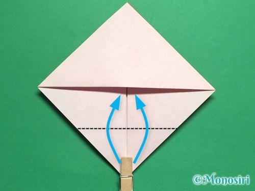 折り紙でお内裏様とお雛様の折り方手順12