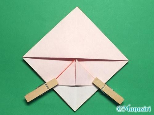 折り紙でお内裏様とお雛様の折り方手順13