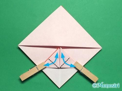 折り紙でお内裏様とお雛様の折り方手順14