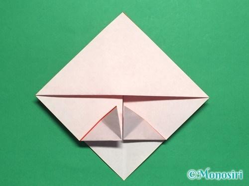 折り紙でお内裏様とお雛様の折り方手順15