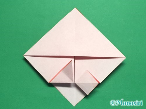 折り紙でお内裏様とお雛様の折り方手順18