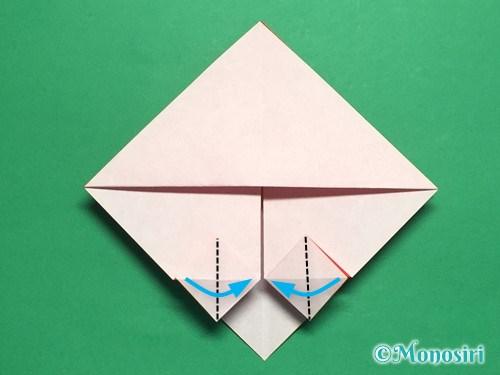 折り紙でお内裏様とお雛様の折り方手順20