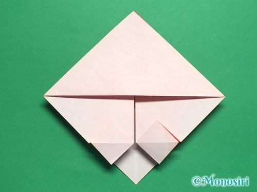 折り紙でお内裏様とお雛様の折り方手順19