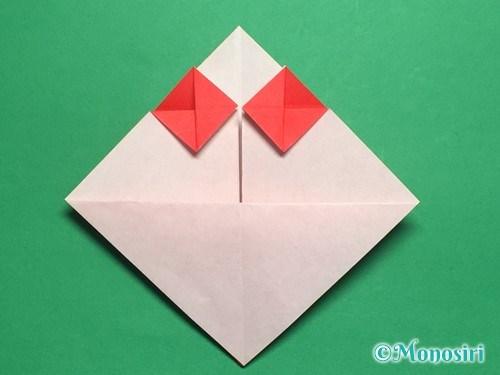 折り紙でお内裏様とお雛様の折り方手順22