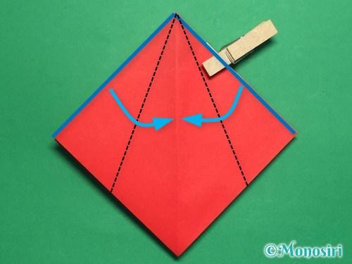折り紙でお内裏様とお雛様の折り方手順24