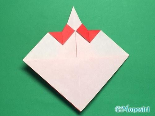 折り紙でお内裏様とお雛様の折り方手順26