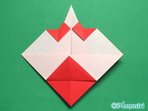 折り紙でお内裏様とお雛様の折り方手順28