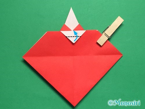 折り紙でお内裏様とお雛様の折り方手順35