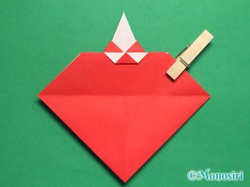 折り紙でお内裏様とお雛様の折り方手順36