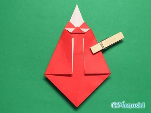 折り紙でお内裏様とお雛様の折り方手順38