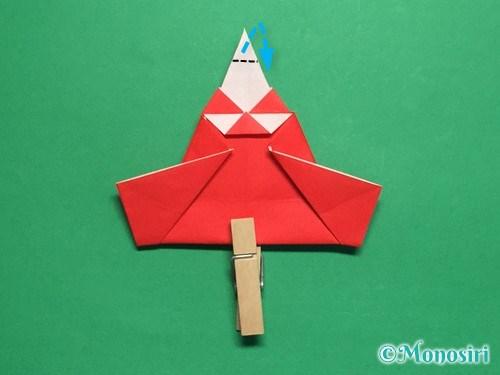 折り紙でお内裏様とお雛様の折り方手順43