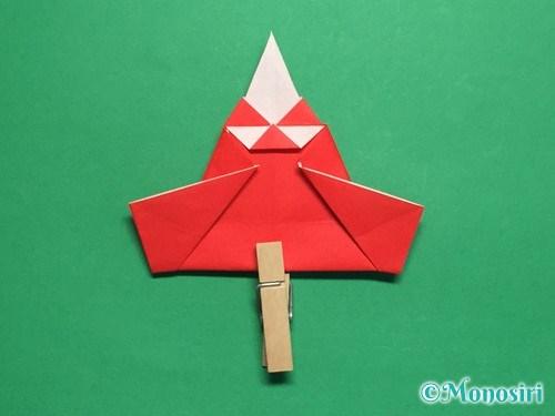 折り紙でお内裏様とお雛様の折り方手順42
