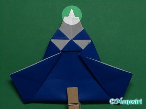 折り紙でお内裏様とお雛様の折り方手順46