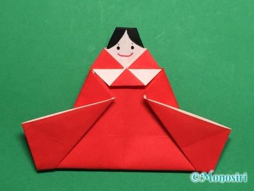 折り紙でお内裏様とお雛様の折り方手順45