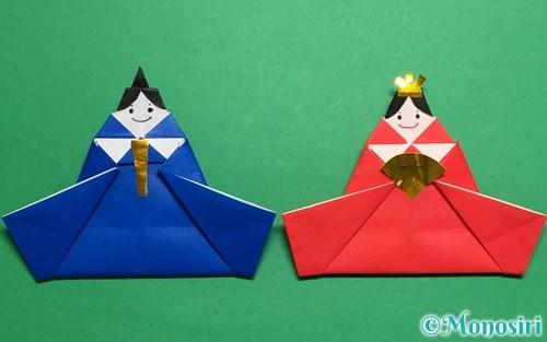 折り紙で作ったお内裏様とお雛様